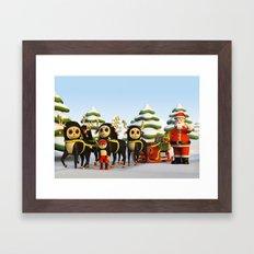 Santa's Sleigh Framed Art Print