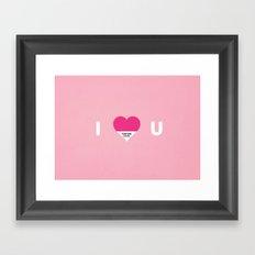 I pantone U Framed Art Print