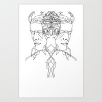 Duo Bowie Art Print