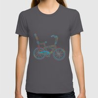 Aztec Bicycle Womens Fitted Tee Asphalt SMALL