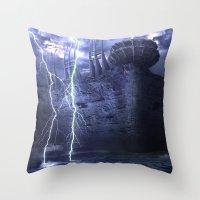 Alien Thunder  Throw Pillow