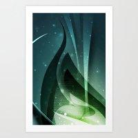 Green fantasy cover Art Print