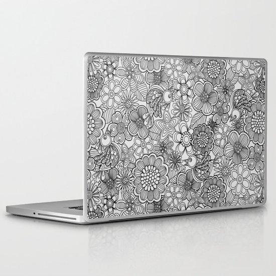 Welcome birds to..white. Laptop & iPad Skin