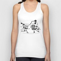 The ultimate fast food fight! Unisex Tank Top