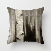 Silver Birch Throw Pillow