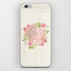 Typography A Mothers Heart iPhone & iPod Skin