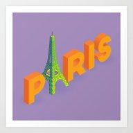 A Is For Eiffel Art Print