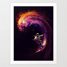 Space Surfing Art Print