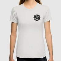 Rise and Grind Womens Fitted Tee Silver SMALL