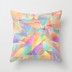 The Geometric Glass Shatter Throw Pillow
