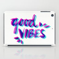 iPad Case featuring Good Vibes – Magenta &… by Cat Coquillette