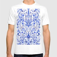 Indigo Folk Paradise Mens Fitted Tee White SMALL
