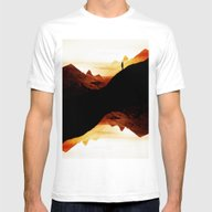 Red Wasteland  Mens Fitted Tee White MEDIUM