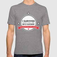 I SURVIVED 2012 SUCKER 2 Mens Fitted Tee Tri-Grey SMALL