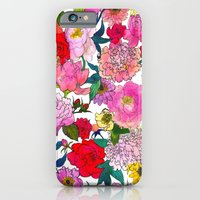 iPhone & iPod Case featuring Peonies & Roses by Marcella Wylie