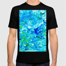 Sea Monster Marble Mens Fitted Tee Black SMALL