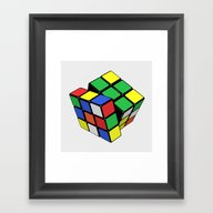 Magic Cube Rubik's_cube Framed Art Print