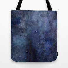 Night Sky Stars Galaxy | Watercolor Tote Bag