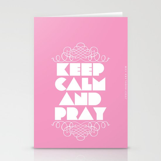 Keep calm and pray Stationery Card