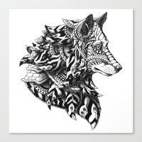Wolf Profile Canvas Print