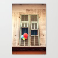 Nice France window 6133 Canvas Print