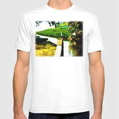 Wild Bird White Mens Fitted Tee SMALL