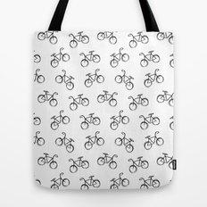 Sketchy Black and White Bicycle Bike Tote Bag