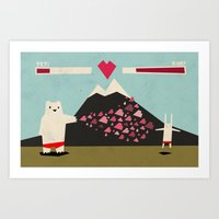 I love you more! Art Print