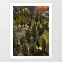 The hill. Art Print