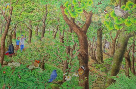 A Day of Forest (2). (sunshine forest) Art Print