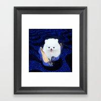 Blue Manolos Framed Art Print