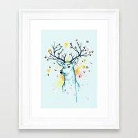 Butterfly Deer Framed Art Print