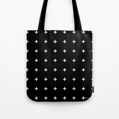 White Plus On Black /// … Tote Bag