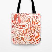 Koi - Coral & White Tote Bag