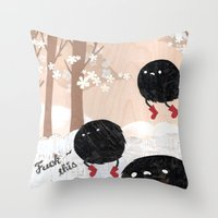 Mr. Furry Pants Throw Pillow