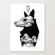 Black Wolf Mountain Canvas Print