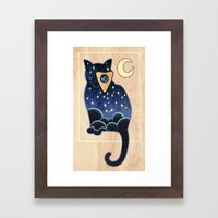 Ouija Cat Framed Art Print