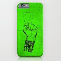 iPhone & iPod Case featuring Make peace... by Alejandro Ayala