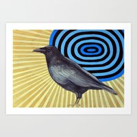 Crow And The Sun Art Print