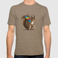 A Funny Squirrel With A … Mens Fitted Tee Tri-Coffee SMALL