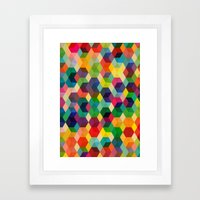 Hexagonzo Framed Art Print