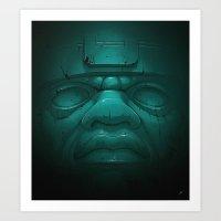 Olmeca III. Art Print