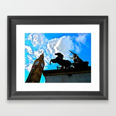 A Commoners View of Big Ben Framed Art Print