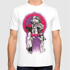 Ghost Dancing SMALL Mens Fitted Tee White