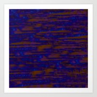 Lines ~ Abstract  Rust Art Print