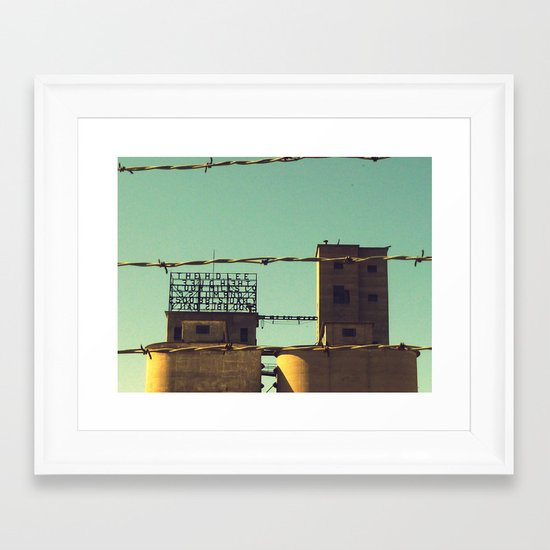 Flour Mill Framed Art Print