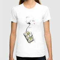 Valentino Clutch Womens Fitted Tee White SMALL