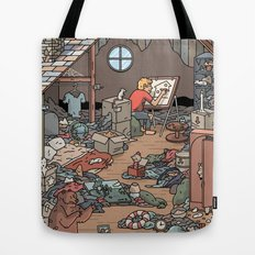Artist in the Attic Tote Bag