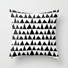 Playful Triangles Throw Pillow