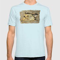 MM - Relaxing meerkat Mens Fitted Tee Light Blue SMALL